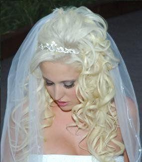Platinum blonde curls