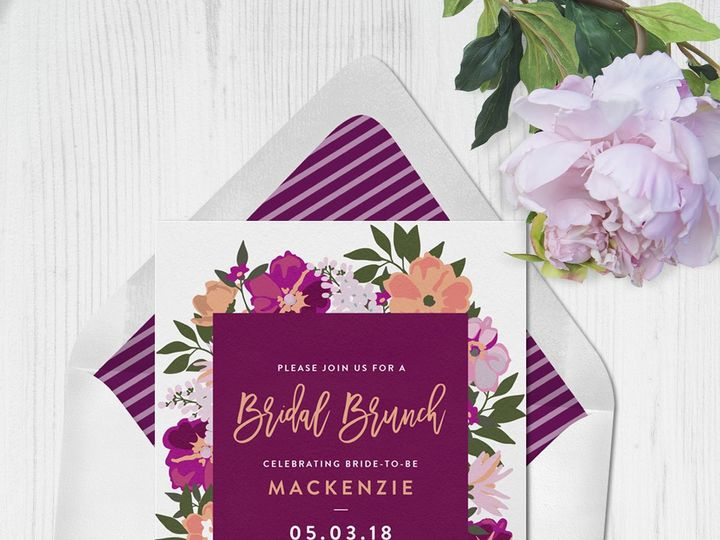Tmx 1528311243 B1f4bea4b31816cd 1528311240 43818df0009278b4 1528311230314 10 Floral Bridal Bru Seattle, Washington wedding invitation