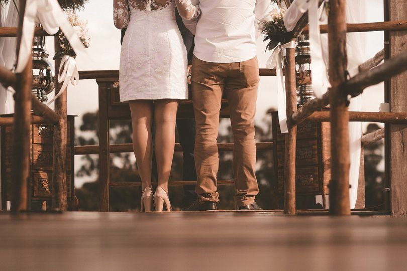 Casual daytime wedding