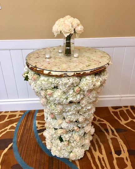 Floral round table