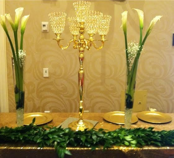 Tmx 1470012984822 Gold 36 Inch Tall Crystal Hurricane Candelabra R Tampa wedding florist