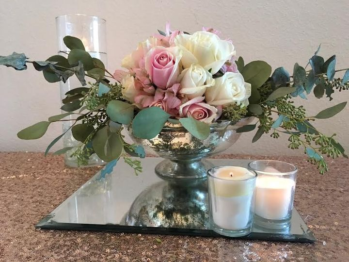 Tmx 1479667796271 Fresh Floral Wedding Centerpiece In Mercury Glass  Tampa wedding florist