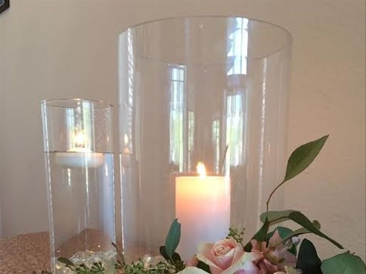 Tmx 1479682546660 Tall Pillar Candle Fresh Floral Centerpiece Tampa wedding florist