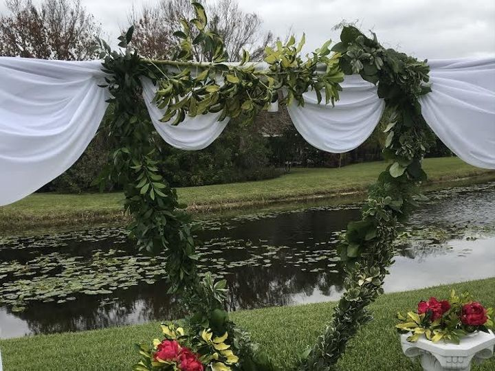 Tmx 1484341930273 Fresh Garland Heart Open Backdrop Tampa wedding florist