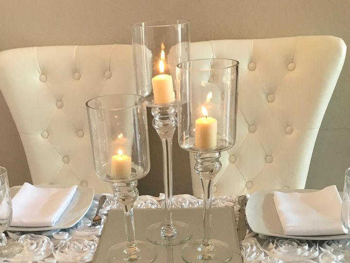 Tmx Glass Stem Candle Holders Centerpiece 51 611741 Tampa wedding florist