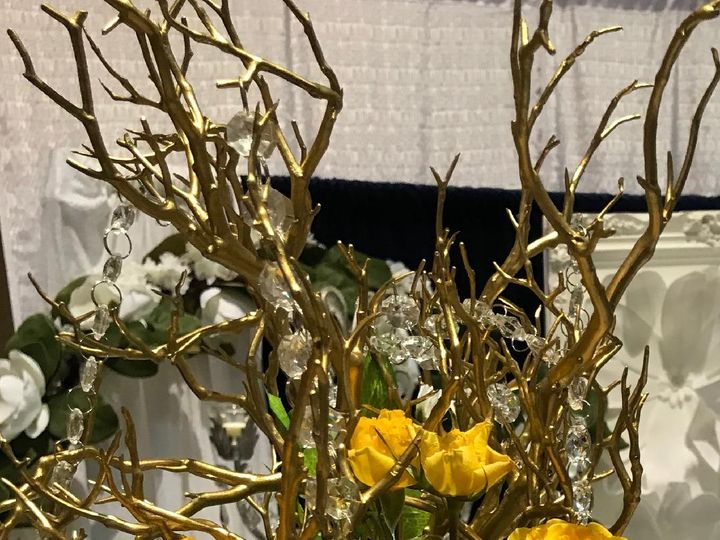 Tmx Gold Branch Crystal Fresh Flowers 51 611741 Tampa wedding florist