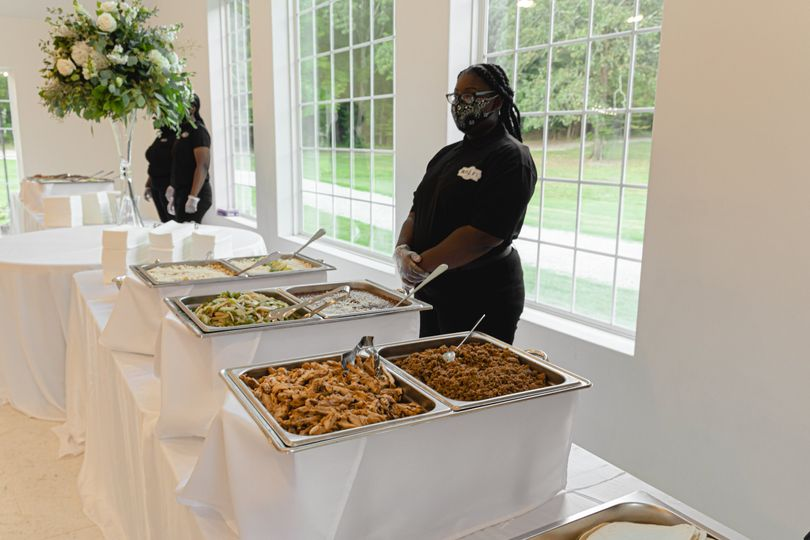 Full-service catering available