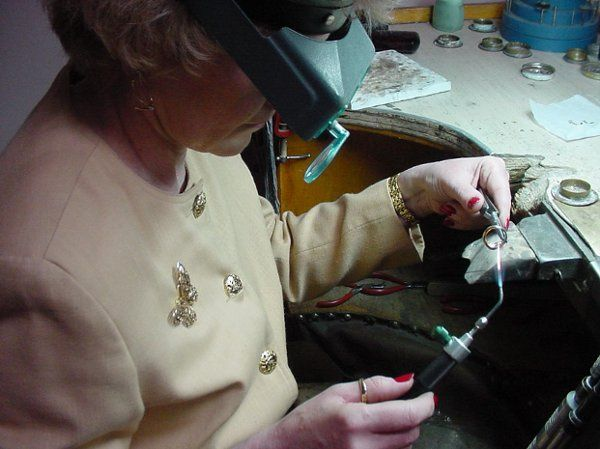 Liz is often found at work in the Barany Jewelers service department repairing many fine pieces of...