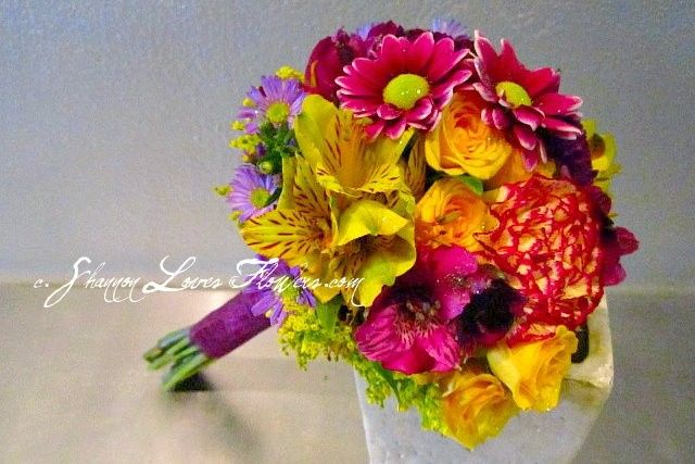 Classic colorful flowers