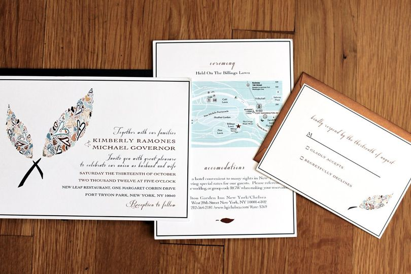 wedding invitations massachusetts boston watertown waltham and
