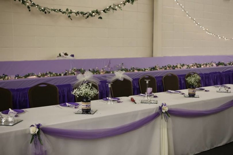Reception long table setup