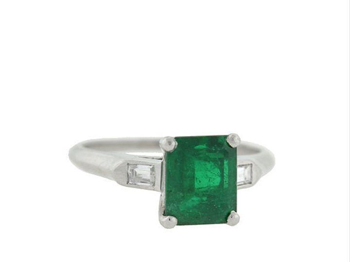 Tmx 1455224952773 Plat Emerald Diamond Ring Narberth wedding jewelry