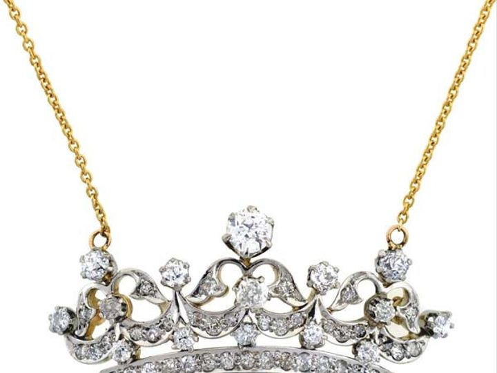 Tmx 1455225193688 Diamondcrownnecklace Narberth wedding jewelry