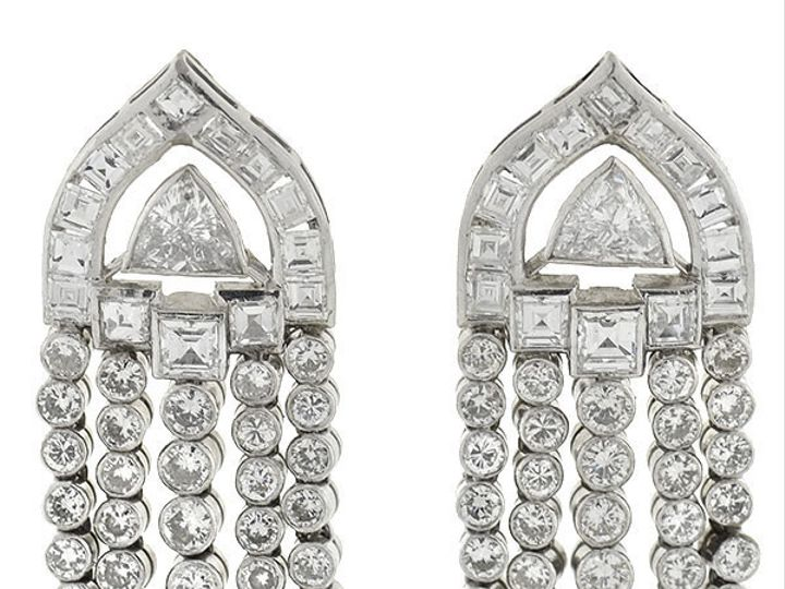 Tmx 1455225224442 Decodanglingdiamondearrings1 Narberth wedding jewelry