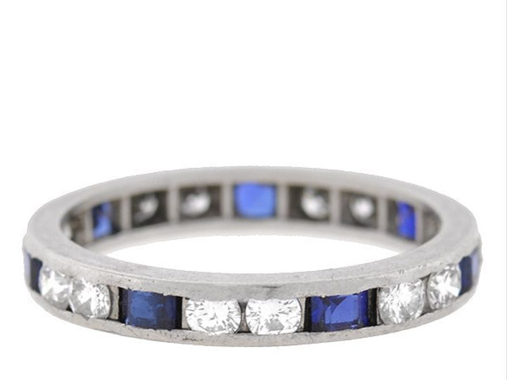 Tmx 1455819535187 Platinum Sapphire Diamond Band Narberth wedding jewelry