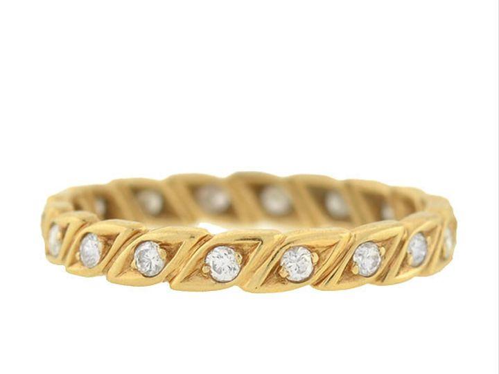 Tmx 1455819562778 Diamond Leaf Eternity Band Narberth wedding jewelry