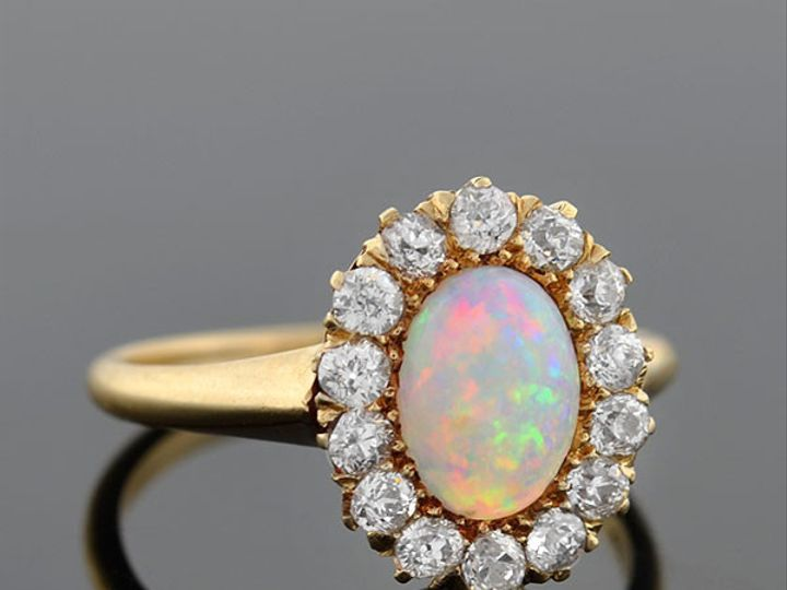 Tmx 1455820530015 Opal Mine Cut Diam Ring Narberth wedding jewelry