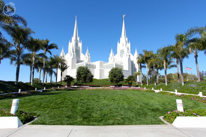 LDS Wedding at the San Diego Temple in 2015