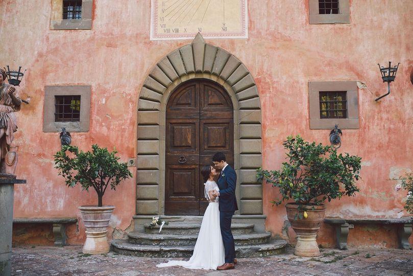 Chianti villa elopement