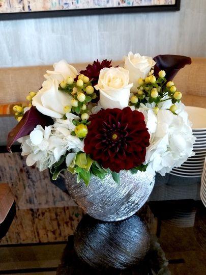 Round floral  centerpiece