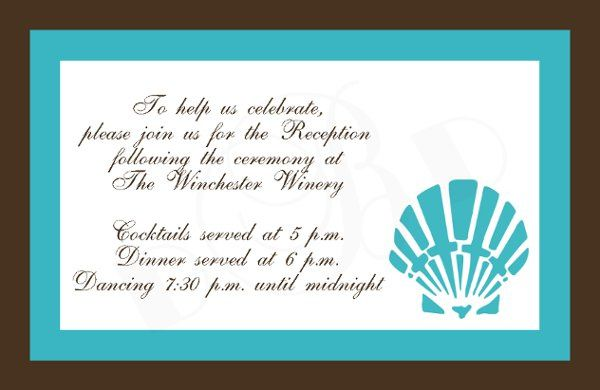 Tmx 1295875527206 Shellreceptioncardcopy Bayonne wedding invitation