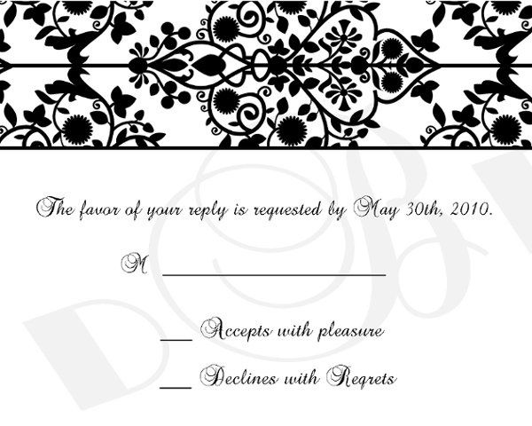 Tmx 1295875533863 Damaskrsvpcopy Bayonne wedding invitation