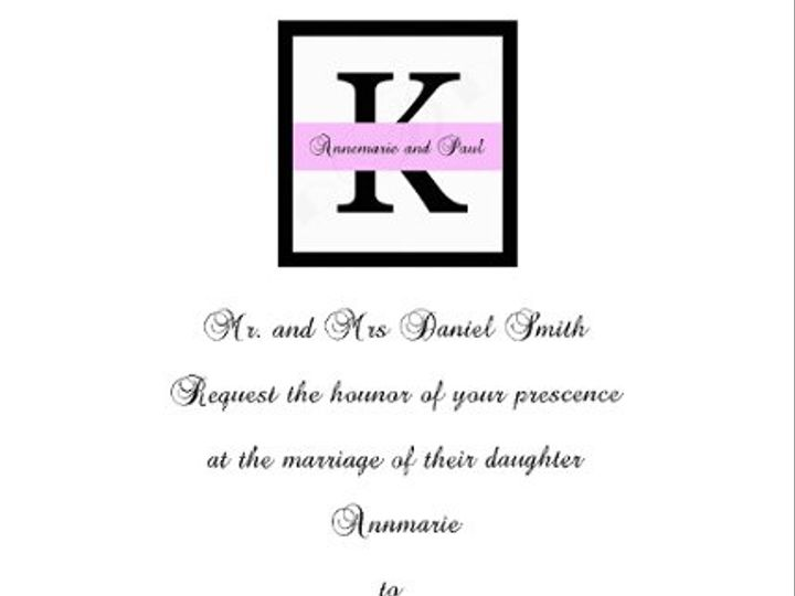 Tmx 1295875536456 SquareInitialInvite Bayonne wedding invitation