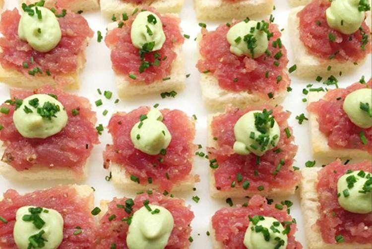 Tuna tartare, wasabi mousse