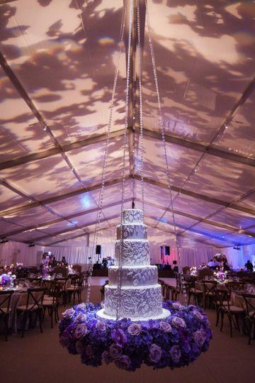 EE + Hanging Wedding Cake