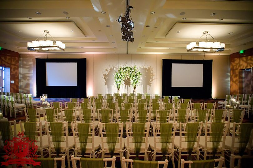 Audio Visual (Screen & Projectors) for Ceremony and Custom Monograms (Gobos)