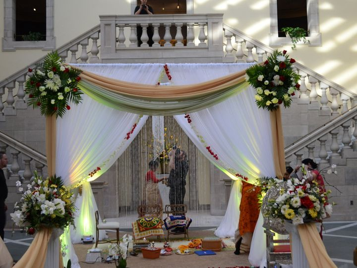 Tmx 1453308626326 Draped Mandup   Canopy Chesapeake, VA wedding eventproduction