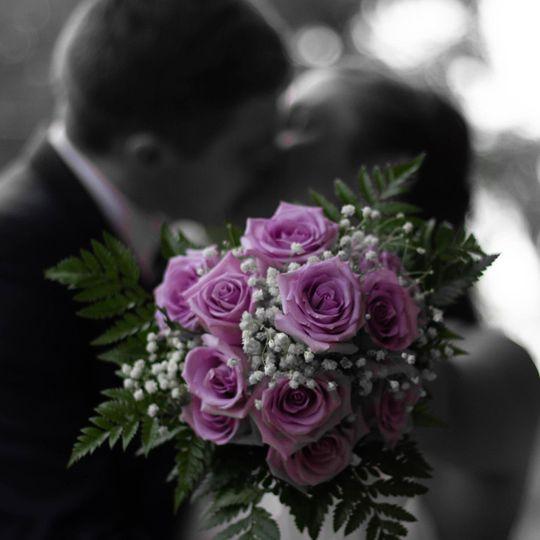 Selective color bouquet