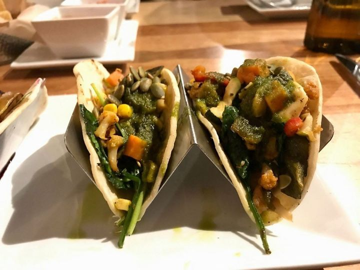 Plated tacos
