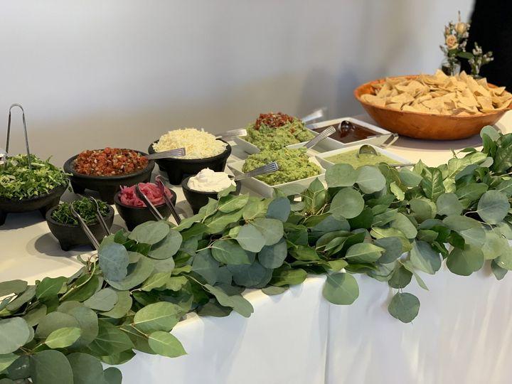 Wedding catering setup
