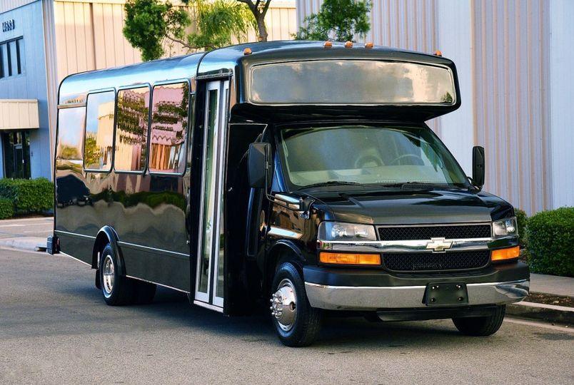 12 Pax Chevy Mini Coach Bus