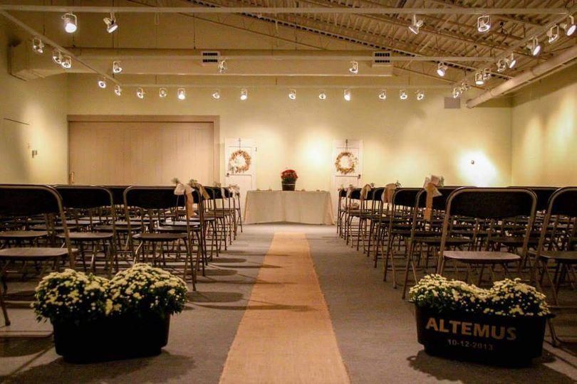 South Gallery wedding setup
