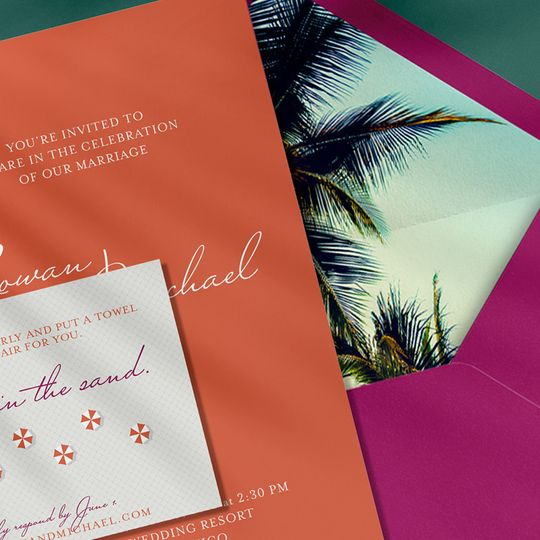 Desintation wedding invitation