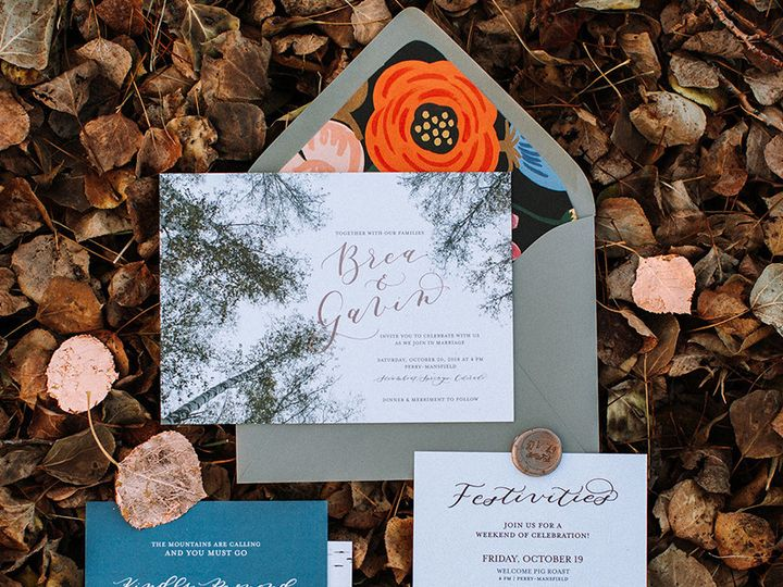 Tmx Colorado Mountains Wedding Invitation Custom 51 1069741 1559585124 Wheat Ridge, CO wedding invitation