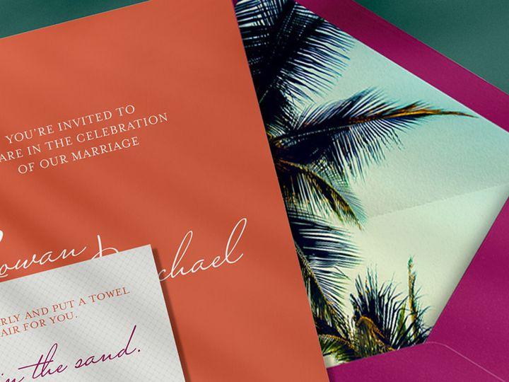 Tmx Custom Wedding Invitation Beach Elopement 51 1069741 1559585123 Wheat Ridge, CO wedding invitation