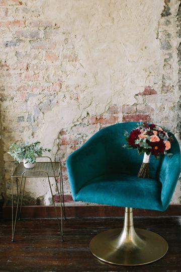 The Cordelle & bridal bouquet