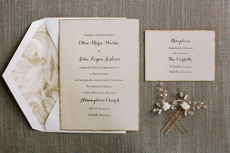 Wedding invitation & details