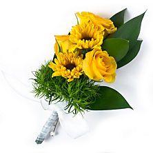 Rose/sunflower boutineer