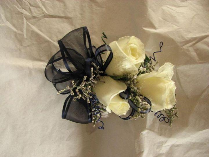 Woman rose corsage