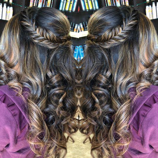 Curl fishtail