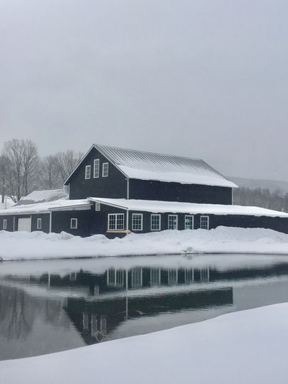 Highview Springs Farm & Event Barn during winter