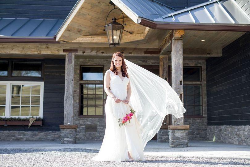 Bride at grand entrace