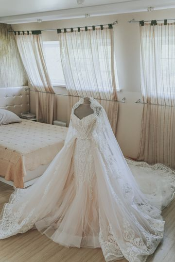 Gown refreshed for the big day