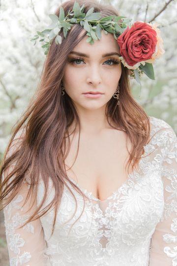 Flower crown bridal