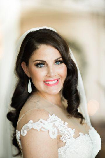 Classic bridal beauty