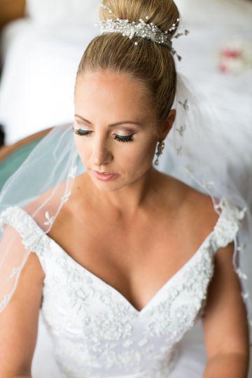 Simple wedding updo